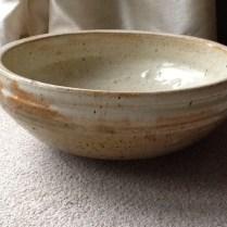 Large Rustic Ceramic Bowl Signed 'dm' Planter