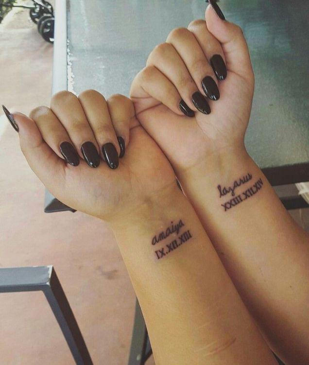 Kids Names & Birth Date Tattoos …