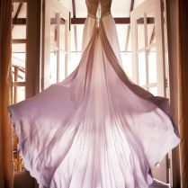 Beautiful Wedding Dress Flying On A Wind In Maldives Photography
