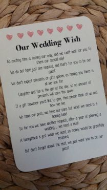 Wedding Poem Invitation Insert