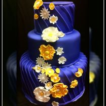 Royal Blue And Yellow Wedding Cake I Love This Cake Even Though I