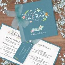 Book Of Love Wedding Invitation