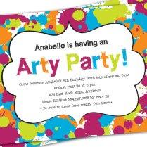 Color Theme Party Invitation Wording