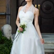 Custom Made Sexy Short Wedding Dress 2015 Halter Off The Shoulder
