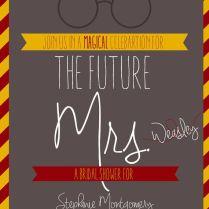 Bridal Shower Invitation Harry Potter By Alondonperspective