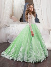 Ebay Sponsored Custom Flower Girls Dresses Long Ball Gown Pageant