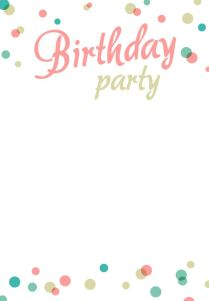 Free Birthday Party Invitation Clipart Collection