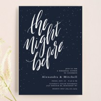 The Night Before Rehearsal Dinner Invitations By Lea Delaveris