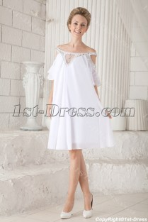 Off Shoulder Casual Short Bridal Gowns For Summer 1st