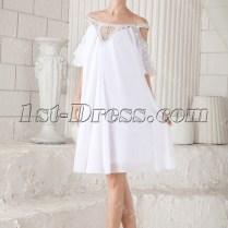 Off Shoulder Casual Short Bridal Gowns For Summer 1st