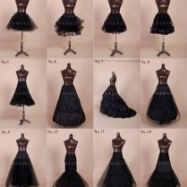 Black Wedding Dress Petticoats Colored A Line Crinoline Mermaid