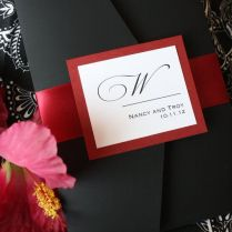Red And Black Wedding Invitations Red And Black Wedding