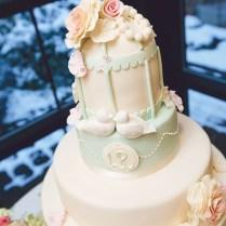 Vintage Birdcage Wedding Cake
