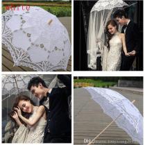 2019 Vintage Lace Parasol Umbrella For Wedding Party Bridal Lace