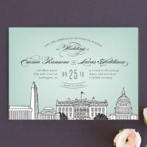 Washington Dc Themed Wedding Invitations