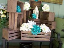 Wedding Centerpiece, Table Center Piece Decoration ,wood Crates