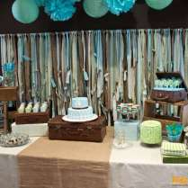 Rustic Baptism Party Ideas