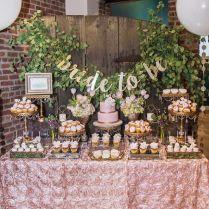 Rustic Elegance Blush Dessert Table Bridal Wedding Shower Party