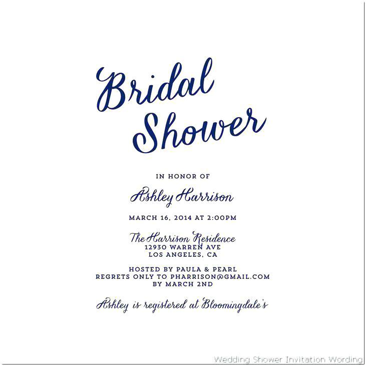 cute bridal shower invitation wording
