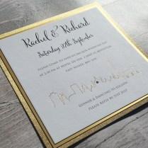 New Foiled Skyline Brighton Wedding Invitationivy Ellen Wedding