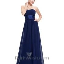 Crinkle Chiffon Empire Bridesmaid Dresses Under 100 Navy