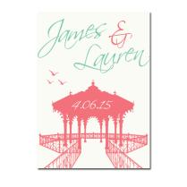 Brighton Bandstand' Wedding Invitation