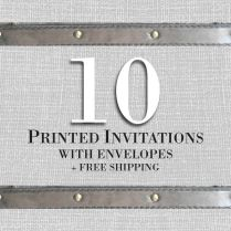 10 Invitations Cards With Envelopes