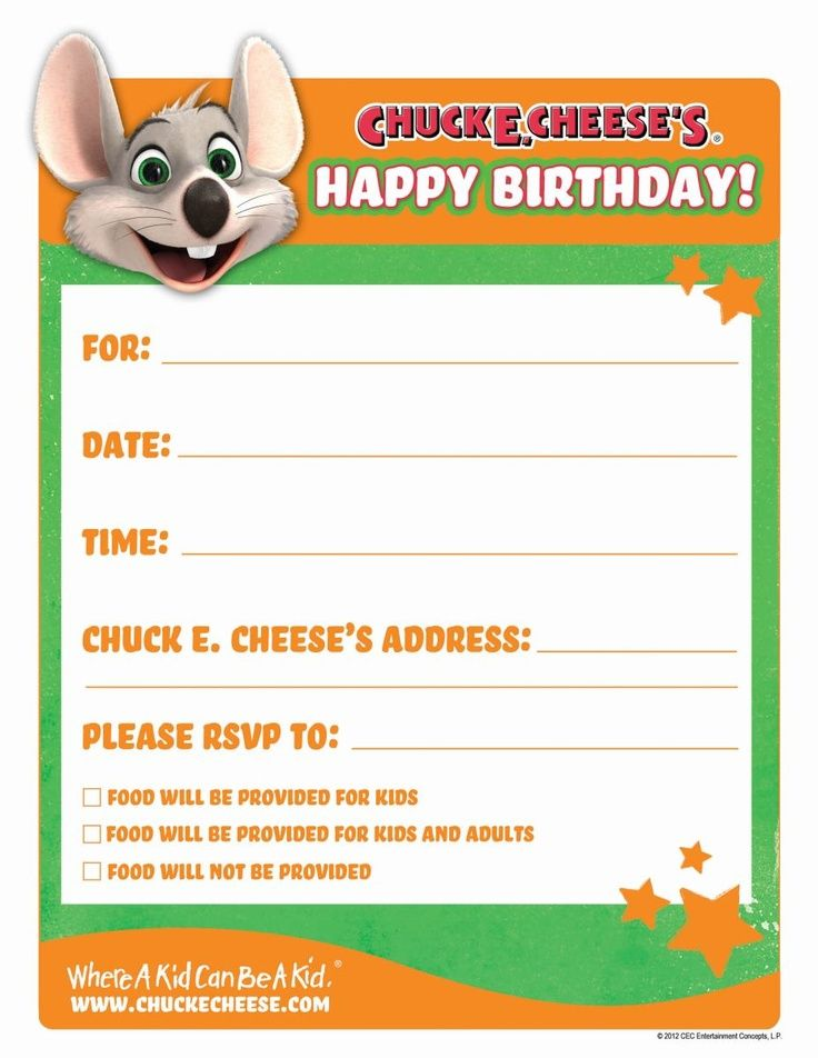 picture relating to Chuck E Cheese Printable Invitations titled E Celebration Invites