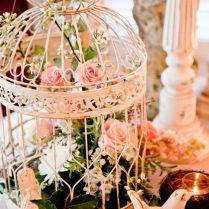 Birdcage As Centerpiece, So Sweet Dove Wedding Photography