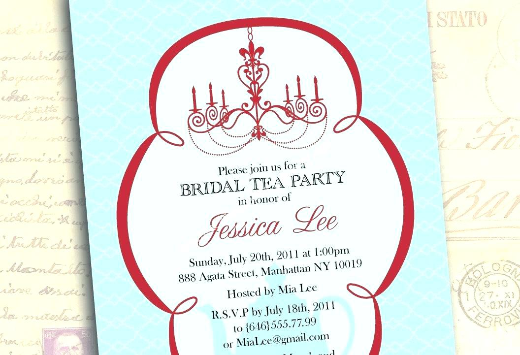 Tea Invitation Wording