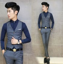 Houndstooth Swallow Gird Men Suits Vests 2015 New Arrival Classic