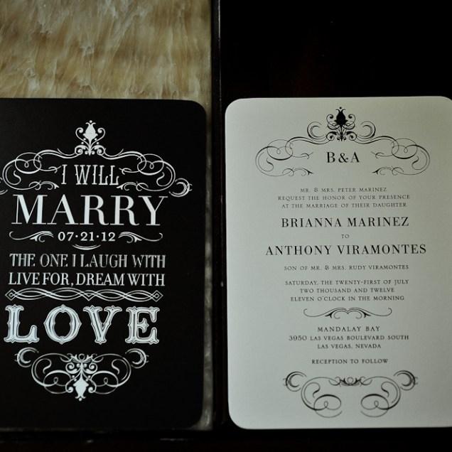 Las Vegas Wedding Invitations Las Vegas Wedding Invitations By Way