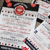 Lucky In Love Las Vegas Destination Wedding Invitations Vegas