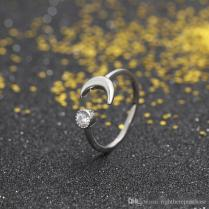 2019 Moon Design Silver Ring For Women 925 Sterling Silver Ring