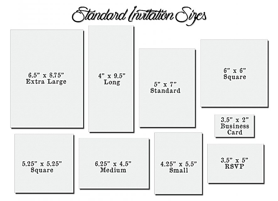Standard Wedding Invitation Wording: Wedding Invitation Card Dimensions