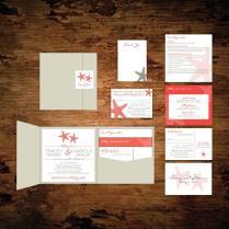 Star Fish Pocket Wedding Invitation Set