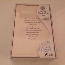 Wilton Complete Wedding Invitation Kit Ivory Print Your Own 50