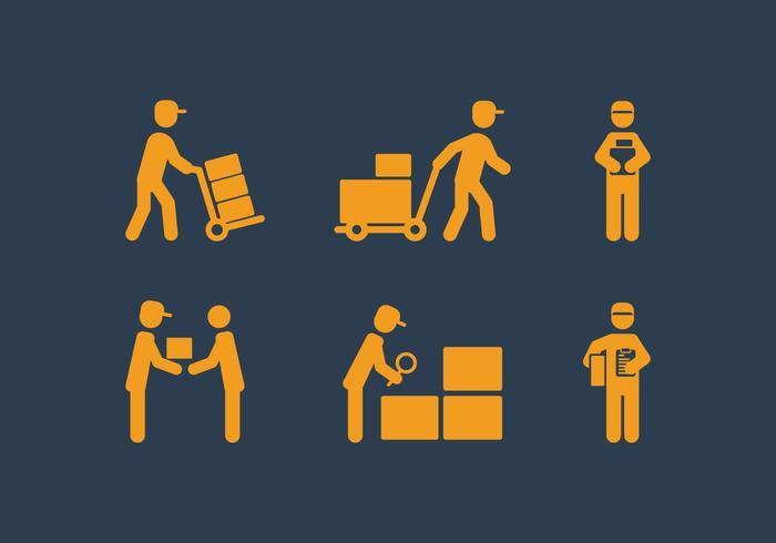 vector-delivery-man-icon-set