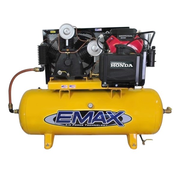 Emax Industrial 24hp 2 Stage 3cyl 80 Gallon Truck mount gas drive