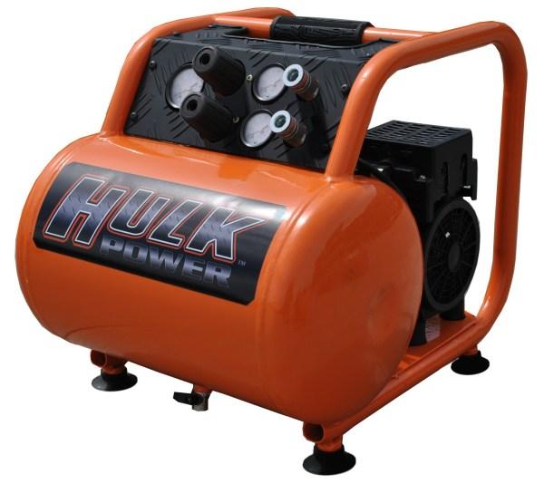 New 1.5hp 5 Gallon Hulk Silent Air Portable Compressor