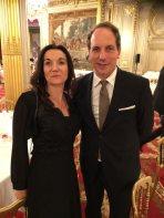 Magali Kervinio, directrice de l'EMBA et M. Penone, ambassadeur en France de la Corée du Sud