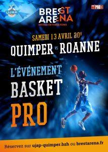 Affiche match de Basket Roanne Quimper à Brest