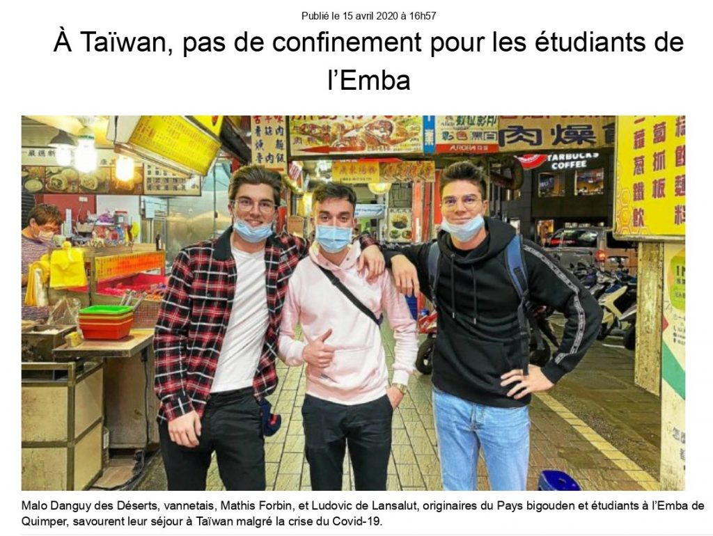 Article TLG_etudiants Taiwan_photo