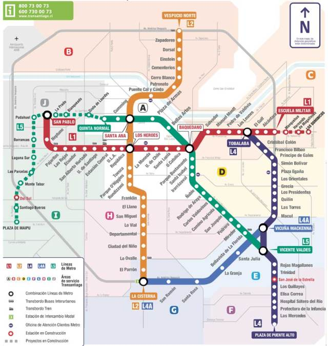 santiago-metro-map