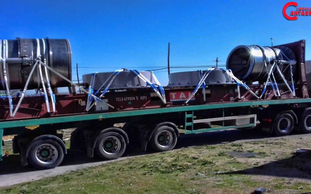 Tricaje Turbinas en Flat Rack 40′