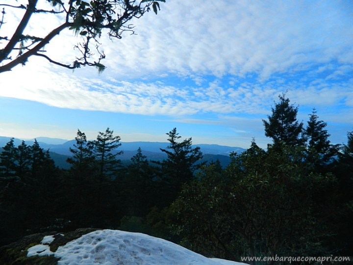 Vista do Mount Work durante o inverno