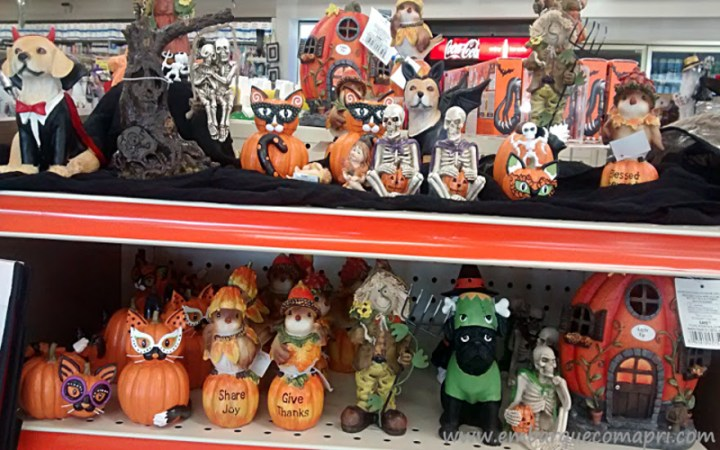 Produtos personalizados para o Halloween em loja do Canadá