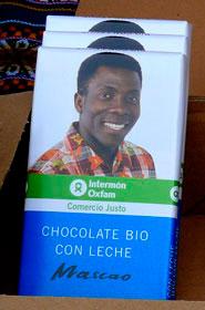 Chocolate ecológico y de comercio justo de IO