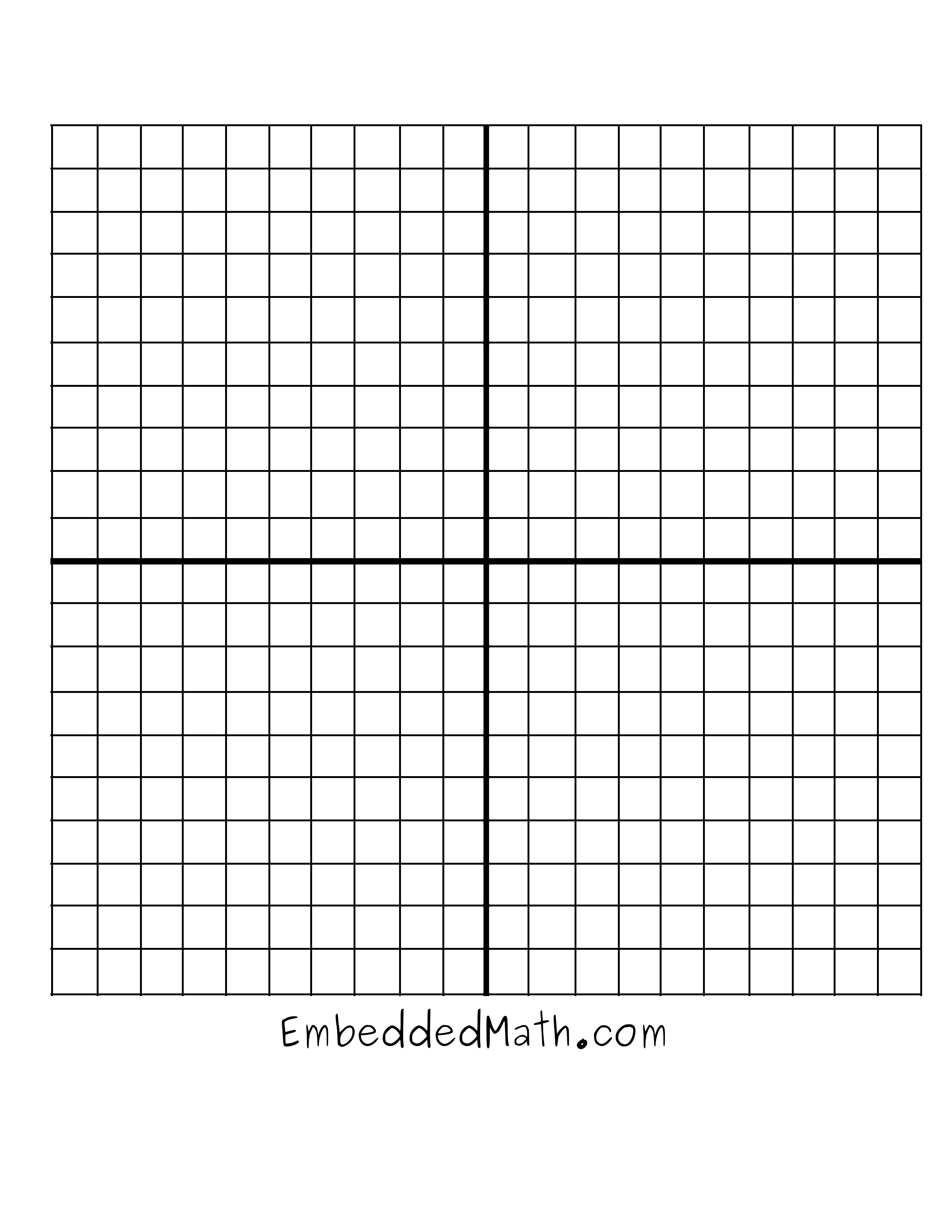 4 Quadrant Coordinate Grid Worksheets