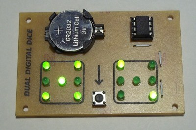 Attiny13 based double dice